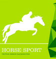 horse sport design background vector image