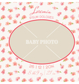 Baby Arrival Card - with Photo Frame vector image vector image