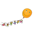kids balloon vector image vector image