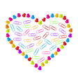 heart of clips and pins vector image vector image