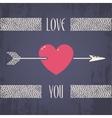 Heart with arrow vector image