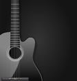 black acoustic guitar vector image vector image