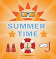Summer Time Orange Banner vector image