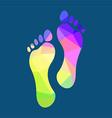 Polygonal Footprints vector image vector image