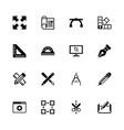 blueprint - flat icons vector image