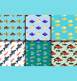 exotic tropical fish seamless pattern colors vector image