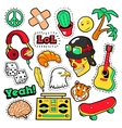 Fashion Badges Patches Stickers Hippie Elements vector image