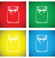 jam jar colourful set vector image