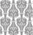 seamless pattern with hand drawn asian vector image