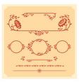 Set of decorative floral elements for vector image