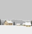 Winter mountain village vector image