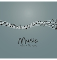 Isolated music note design vector image