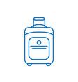 suitcase isolated minimal single flat line art vector image