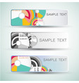Diagrams abstract banners vector image