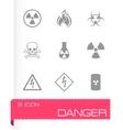 danger icons set vector image