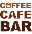 coffee cafe bar vector image