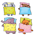 animals sleeping vector image