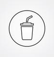 coffee outline symbol dark on white background vector image