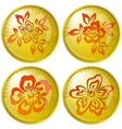 flowers buttons vector image