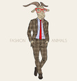 Fashion of goat in business suit vector image