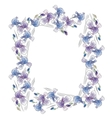 frame with irises vector image