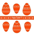 Easter eggs vector image