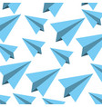 paper airplane pattern background vector image