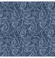 seamless hand-drawn pattern of curls vector image