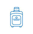 suitcase isolated minimal single flat line art vector image