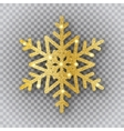 golden snowflake on transparent background vector image vector image