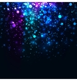 Rainbow glowing light glitter background vector image