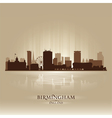 Birmingham England skyline city silhouette vector image vector image