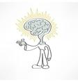 man brain icon vector image