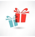 Two colored gifts vector image vector image