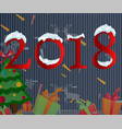 2018 happy new year text for car vector image