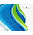 Abstract realistic solid wave background vector image vector image