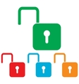 Unlock sign Colorfull set vector image