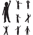 Child dancing vector image