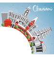 Chennai Skyline with Gray Landmarks vector image