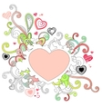 Abstract heart drawing vector image