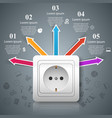electric outlet icon abstract business vector image