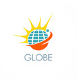 globe shine solar logo vector image