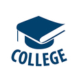 logo book in the form of a cap for college vector image