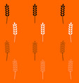 wheat black and white set icon vector image