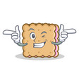 wink biscuit character cartoon style vector image