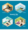 Interior Rooms of The House Isometric View vector image