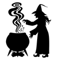 witch pot vector image