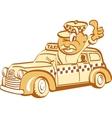 Taxi driver man vector image