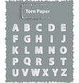 alphabet letters on torn paper vector image