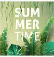 hello summer summertime the text poster against vector image